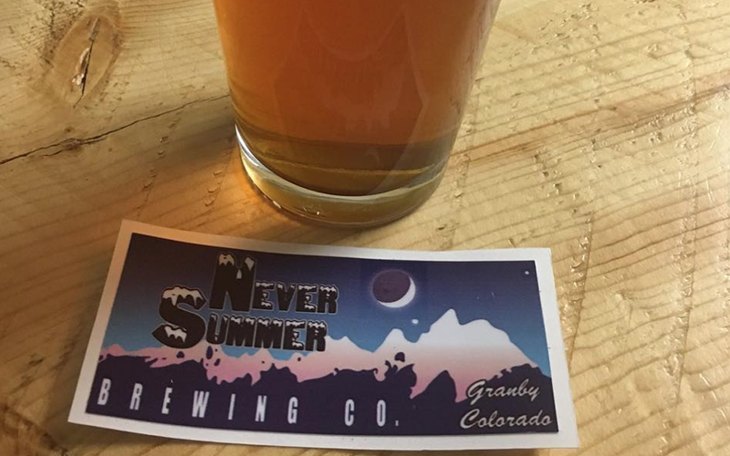 Never Summer Brewing Grandby CO
