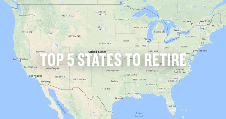 Top 5 States to Retire