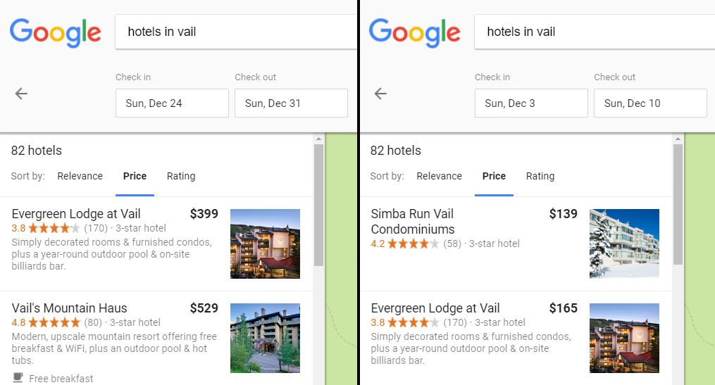 Cheapest Time For Hotels in Vail Colorado