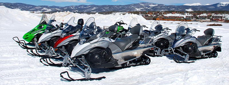 Snowmobiling in Winter Park