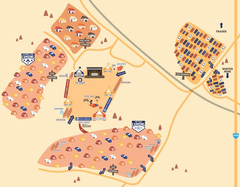Divide Music Festival Map