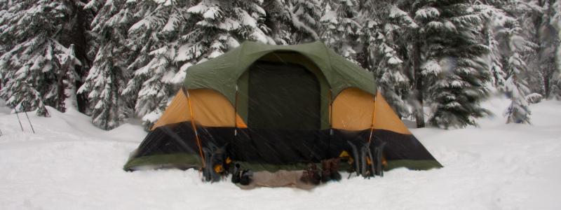 preparing for snow camping